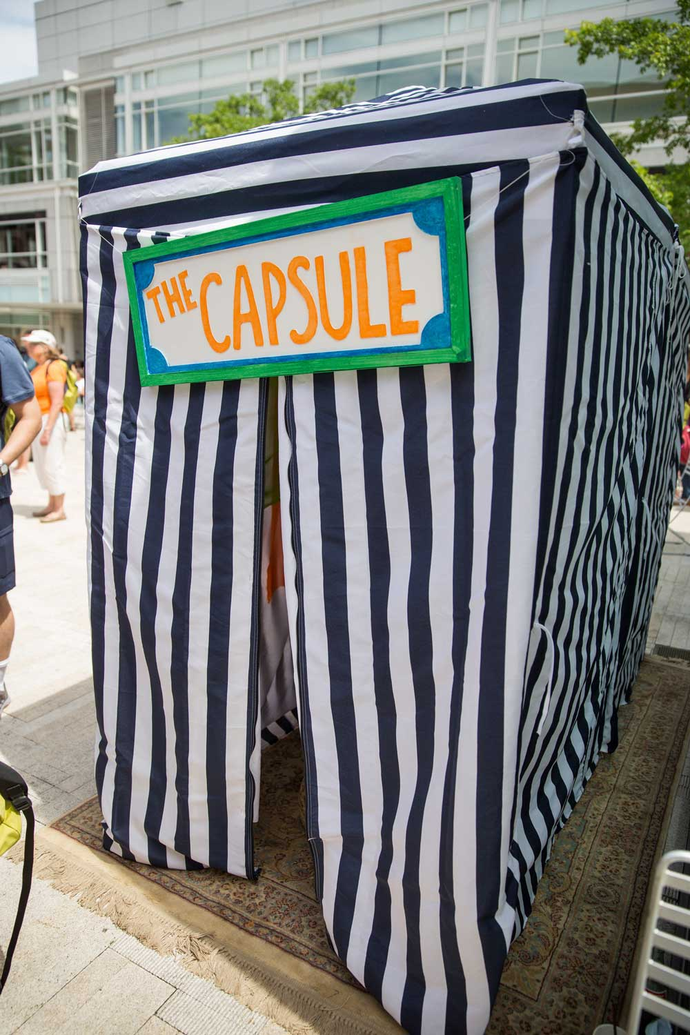 The WDS Time Capsule Tent (courtesy Chris Guillebeau)